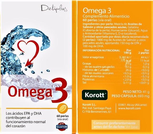 valor nutricional omega 3 deliplus mercadona