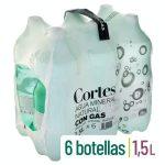 Agua mineral con gas grande Cortes Mercadona