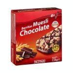 Barritas de cereales muesli Hacendado con chocolate Mercadona