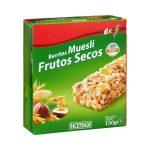 Barritas de cereales muesli Hacendado frutos secos Mercadona