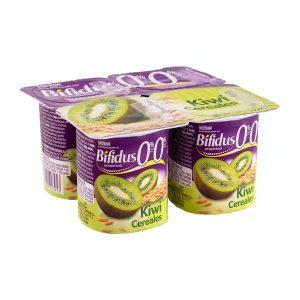 Bífidus desnatado con kiwi y cereales Hacendado 0% m.g. 0% sin azúcares añadidos Mercadona