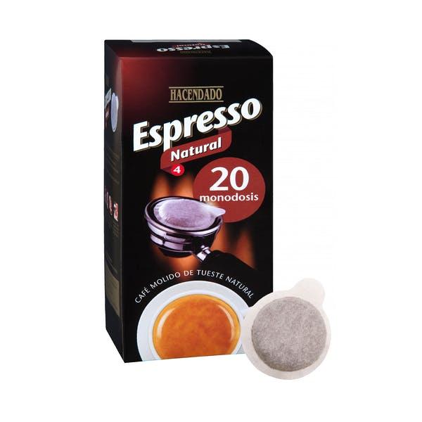 Café monodosis natural Hacendado Espresso Mercadona