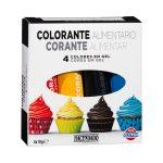 Colorante alimentario 4 colores en gel Hacendado Mercadona