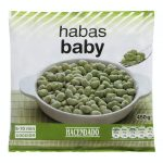 Haba baby Hacendado ultracongelada Mercadona