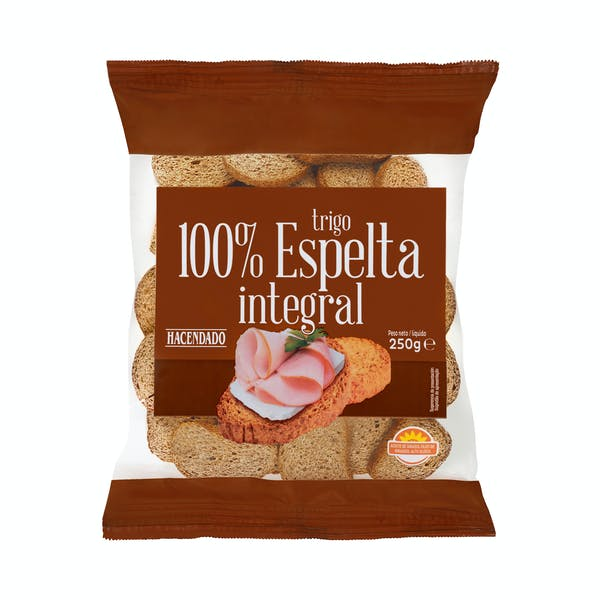 Pan Tostado 100 Espelta Integral Hacendado 2021