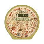 Pizza 4 quesos familiar Hacendado Mercadona