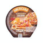 Pizza americana rellena de cheddar Hacendado ultracongelada Mercadona
