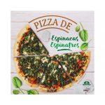 Pizza de espinacas Hacendado ultracongelada Mercadona