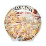 Pizza masa fina jamón Hacendado ultracongelada Mercadona