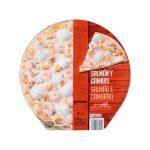 Pizza salmón y gambas Hacendado ultracongelada Mercadona