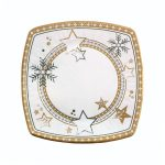 Plato de cartón decoración nieve Navidad Bosque Verde Mercadona