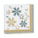 Servilleta papel decoración nieve Navidad Bosque Verde Mercadona