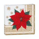 Servilleta papel decoración poinsettia Navidad Bosque Verde Mercadona