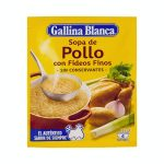 Sopa de pollo Gallina Blanca con fideos finos Mercadona